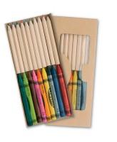 118676c Zestaw kredek ołówkowych i świecowych
