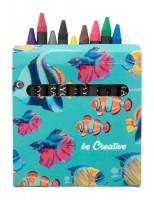 833971c Kredka świecowa w pudełku 12 sztuk z nadrukiem pełny kolor