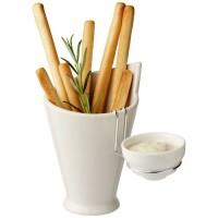 11300600f Pojemnik ceramiczny na frytki i sos lub kabanosy