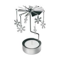 CX1338m Dekoracja z płatkami śniegu ze świeczką
