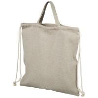 12045900f Plecak Pheebs z bawełnianym sznurkiem ściągającym z recyklingu o gramaturze 150 g/m²
