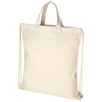12046000f Plecak Pheebs z bawełnianym sznurkiem ściągającym z recyklingu o gramaturze 210 g/m²