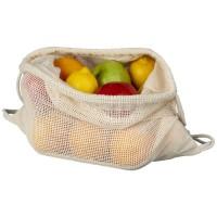 12048300f Plecak z siatki bawełnianej ze sznurkiem ściągającym