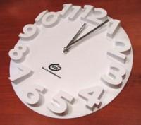 03062a Zegar z wypukłymi cyframi na tarczy