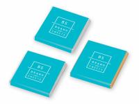 Czekoladki kwadratowe CZEKOLADKI KWADRATOWE z etykietą CMYK
