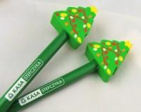 AP808512c ołówek z gumką w świątecznym kształcie