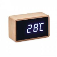 9921m-40 Bambusowy budzik LED