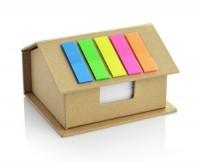17594a eko pojemnik z karteczkami w kształcie domu