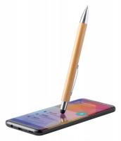 186672c-10 Długopis dotykowy, bambusowy