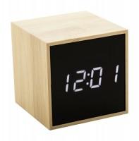 046181c Bambusowy zegar z alarmem