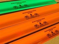 77631p-15 Opaska odblaskowa 30 cm, pomarańczowy