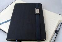 938075s-04 Notes z metalową blaszką A5 i długopisem