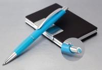 3500q Długopis plastikowy z kolorowym akcentem na przycisku 3500q Długopis plastikowy z kolorowym akcentem na przycisku