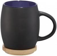 10046601f Ceramiczny kubek Hearth z drewnianym wiekiem/spodeczkiem