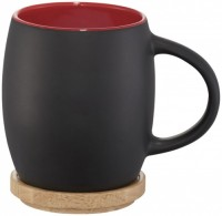 10046602f Ceramiczny kubek Hearth z drewnianym wiekiem/spodeczkiem