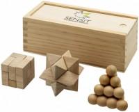 11002900f Zestaw łamigłówek drewnianych Braniac