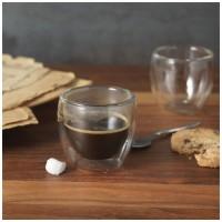 11251100f 2 szklanki do espresso z podwójnym dnem