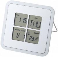 11507100f Budzik na biurko Livorno z kalendarzem i termometrem
