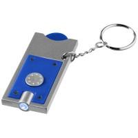 11809601f Brelok z żetonem 1 euro i latarką