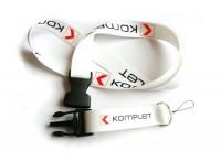 20ZT1 Smycz reklamowa 20mm, złączka, uchwyt na telefon, nadruk jednostronny, pełny kolor
