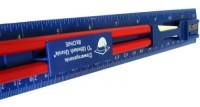 20070a Linijka 30 cm z ołówkami, gumką i temperówką